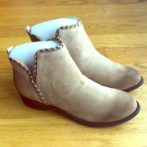 Dirty Laundry Split Suede Sand Booties-Brand New